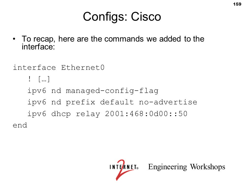 Configs: Cisco To recap, here are the commands we added to the interface: interface Ethernet0. ! […]